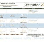 September 2021 Workshop Calendar